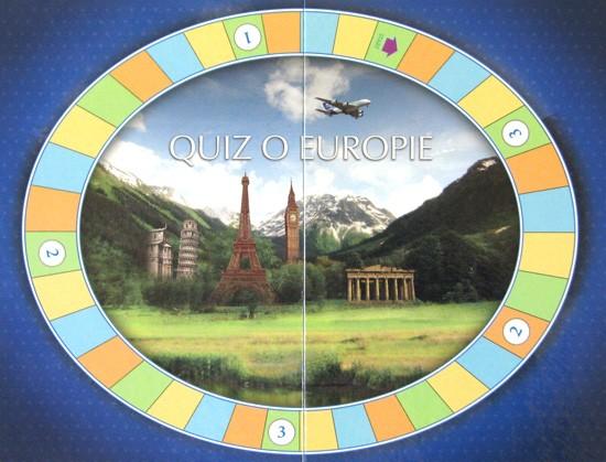 plansza do gry Mini Quiz o Europie