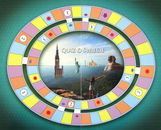 Plansza do gry - Quiz o świecie