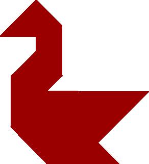 Tangram - ptak