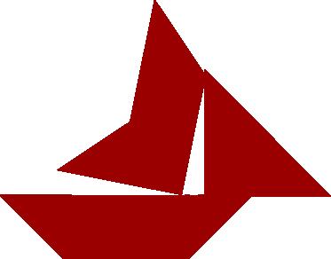 Tangram - jeden z obrazków pokazujących łódki