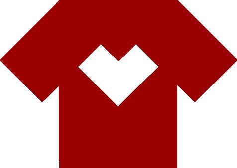 koszulka z serduszkiem pośrodku.
